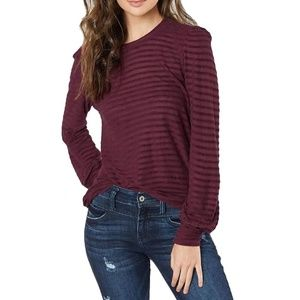 Lucky Brand Striped Chenille Top